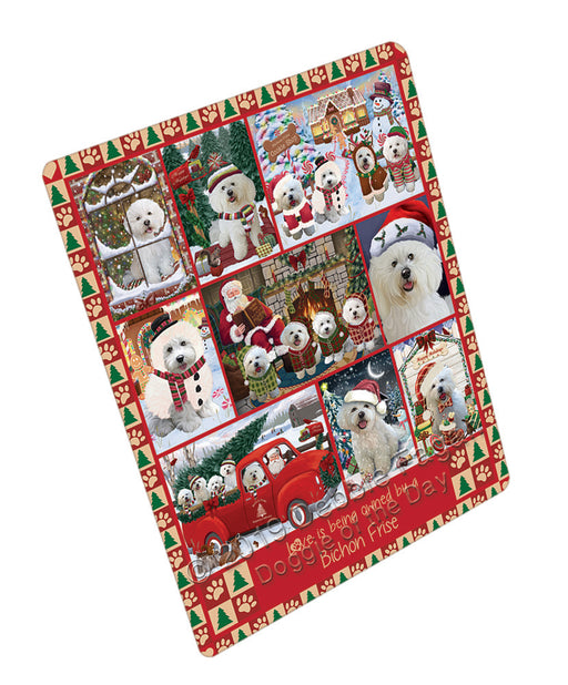 Love is Being Owned Christmas Bichon Frise Dogs Refrigerator / Dishwasher Magnet RMAG107736