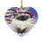 Winterland Wonderland Birman Cat In Christmas Holiday Scenic Background Heart Christmas Ornament HPOR56043