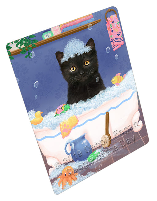 Rub A Dub Dog In A Tub Black Cat Refrigerator / Dishwasher Magnet RMAG108834
