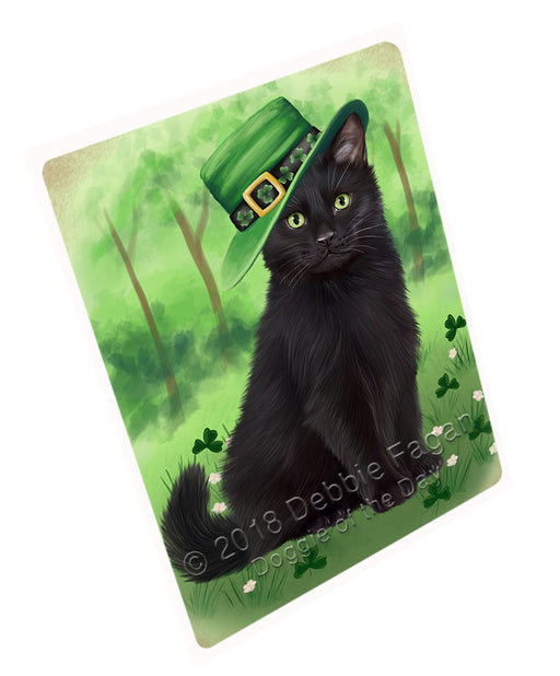 St. Patricks Day Irish Portrait Black Cat Refrigerator / Dishwasher Magnet RMAG104322
