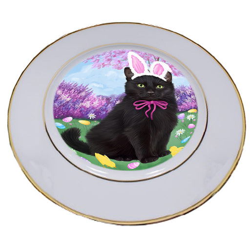 Easter Holiday Black Cat Porcelain Plate PLT55275