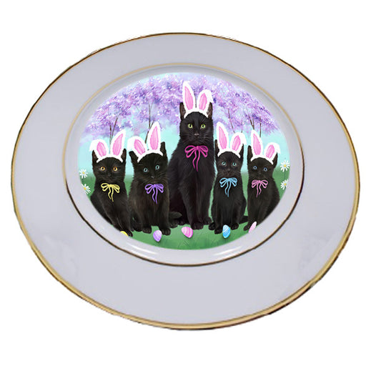 Easter Holiday Black Cats Porcelain Plate PLT55276