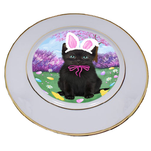 Easter Holiday Black Cat Porcelain Plate PLT55277