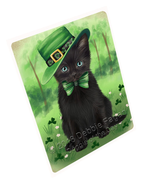 St. Patricks Day Irish Portrait Black Cat Refrigerator / Dishwasher Magnet RMAG104334