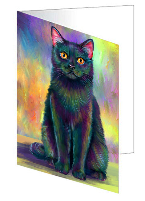 Paradise Wave Black Cat Note Card NCD72692