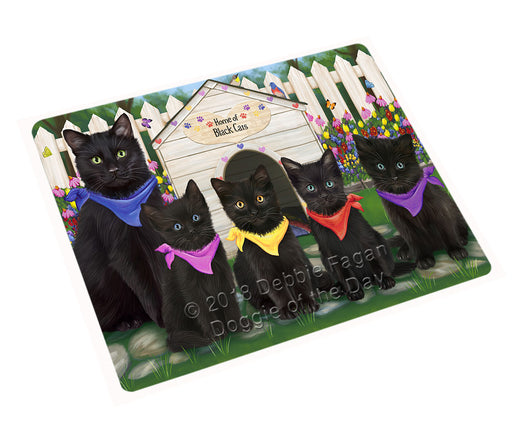 Spring Dog House Black Cats Large Refrigerator / Dishwasher Magnet RMAG73398