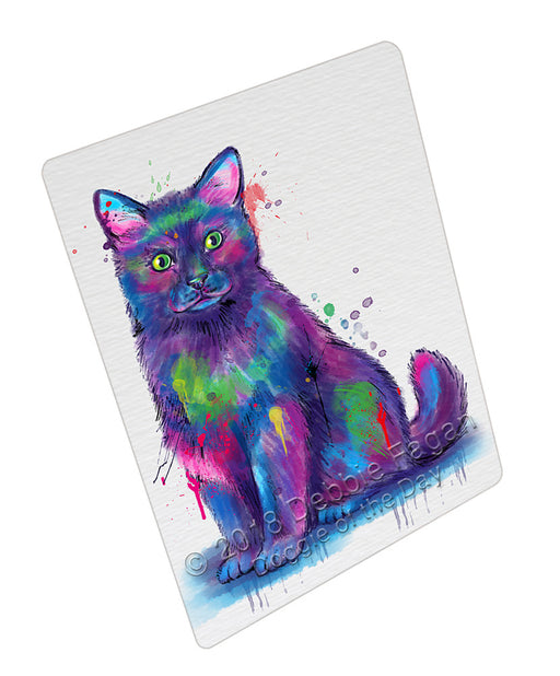 Watercolor Black Cat Refrigerator / Dishwasher Magnet RMAG105558