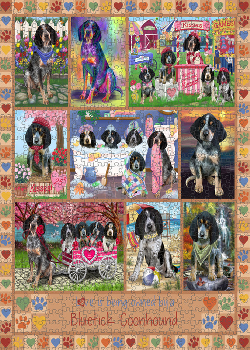 Love is Being Owned Bluetick Coonhound Dog Beige Puzzle with Photo Tin PUZL98284