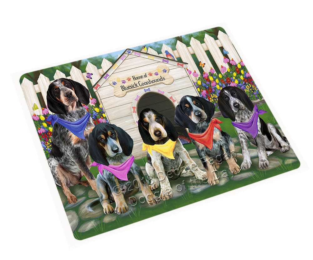Spring Floral Bluetick Coonhound Dog Tempered Cutting Board C53253