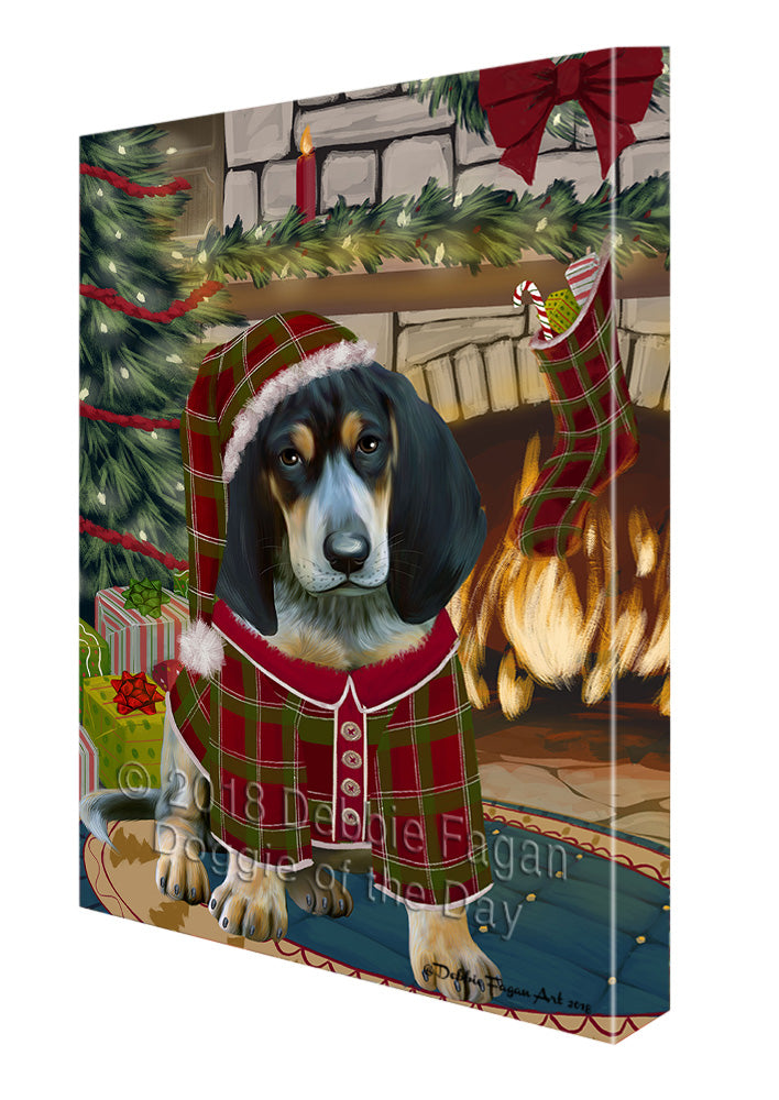The Stocking was Hung Bluetick Coonhound Dog Canvas Print Wall Art Décor CVS116981