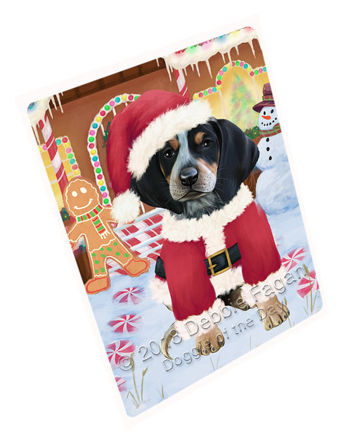 Christmas Gingerbread House Candyfest Bluetick Coonhound Dog Large Refrigerator / Dishwasher Magnet RMAG99456