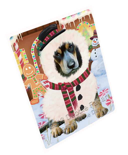 Christmas Gingerbread House Candyfest Bluetick Coonhound Dog Large Refrigerator / Dishwasher Magnet RMAG99462