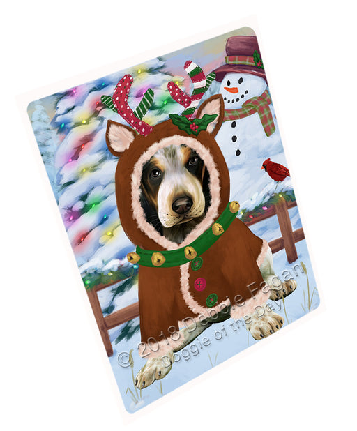 Christmas Gingerbread House Candyfest Bluetick Coonhound Dog Large Refrigerator / Dishwasher Magnet RMAG99468