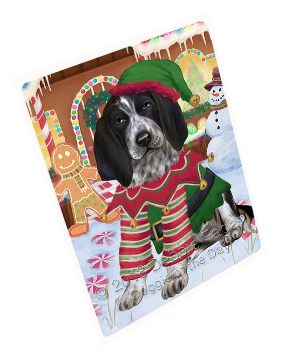 Christmas Gingerbread House Candyfest Bluetick Coonhound Dog Large Refrigerator / Dishwasher Magnet RMAG99474