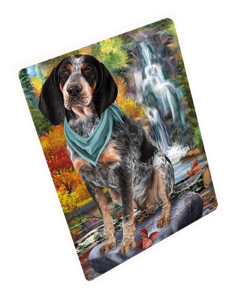 "Scenic Waterfall Bluetick Coonhound Dog Magnet Mini (3.5"" x 2"") MAG59772"