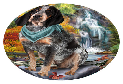 Scenic Waterfall Bluetick Coonhound Dog Oval Envelope Seals OVE63360