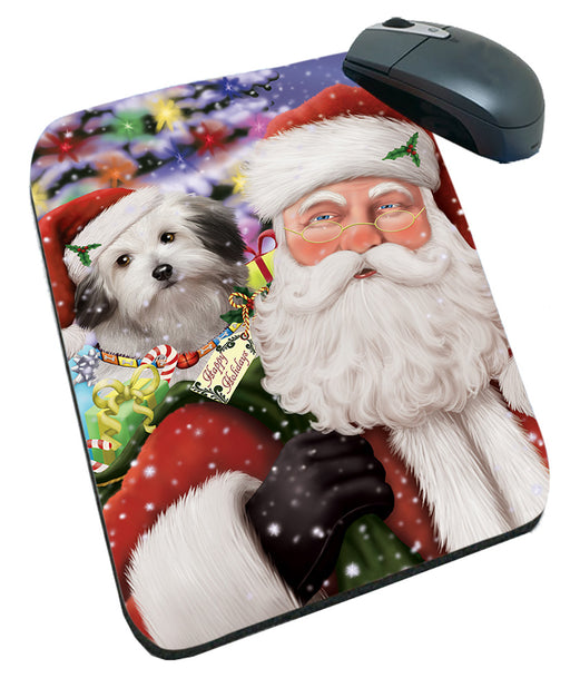 Santa Carrying Bolognese Dog and Christmas Presents Mousepad MPD55490