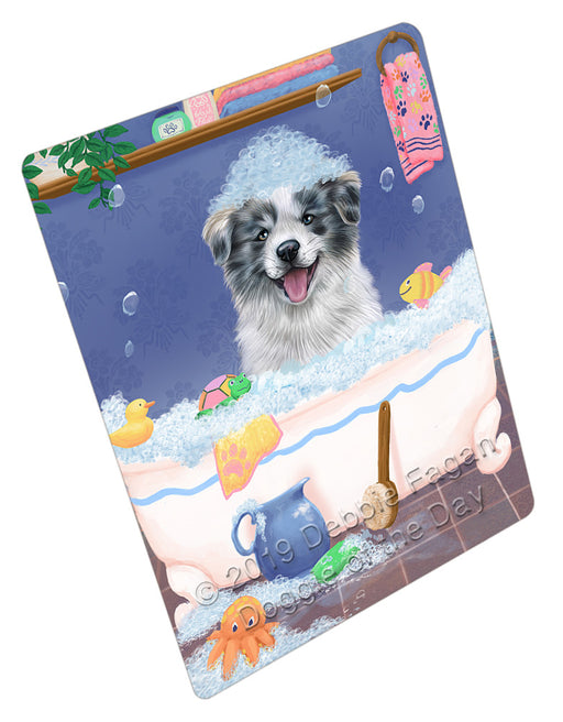 Rub A Dub Dog In A Tub Border Collie Dog Refrigerator / Dishwasher Magnet RMAG108864