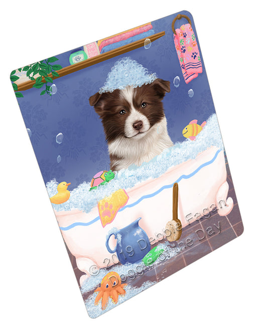Rub A Dub Dog In A Tub Border Collie Dog Refrigerator / Dishwasher Magnet RMAG108870