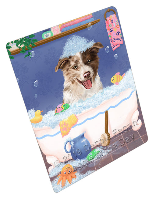 Rub A Dub Dog In A Tub Border Collie Dog Refrigerator / Dishwasher Magnet RMAG108876