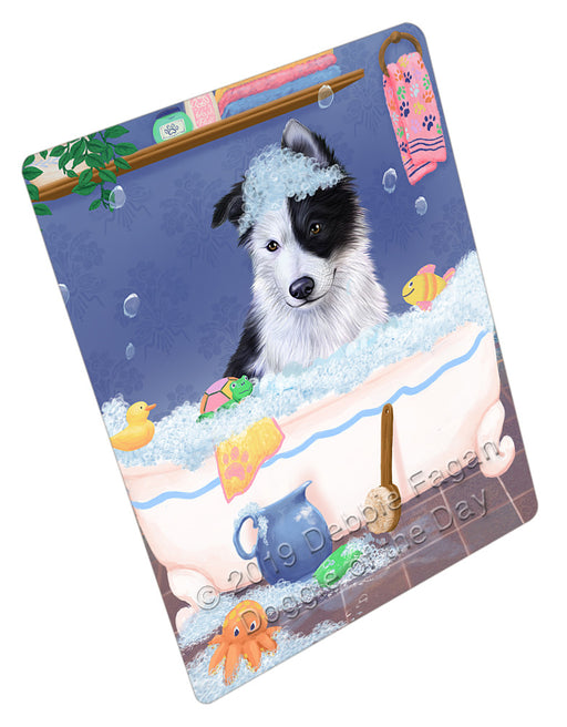 Rub A Dub Dog In A Tub Border Collie Dog Refrigerator / Dishwasher Magnet RMAG108882