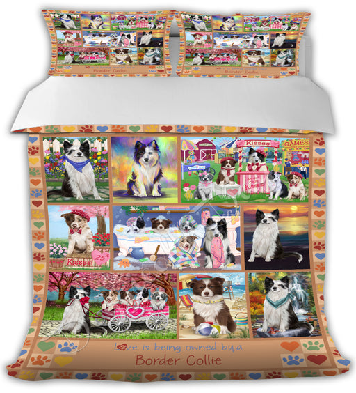Love is Being Owned Border Collie Dogs Beige Bed Comforter CMFTR50695