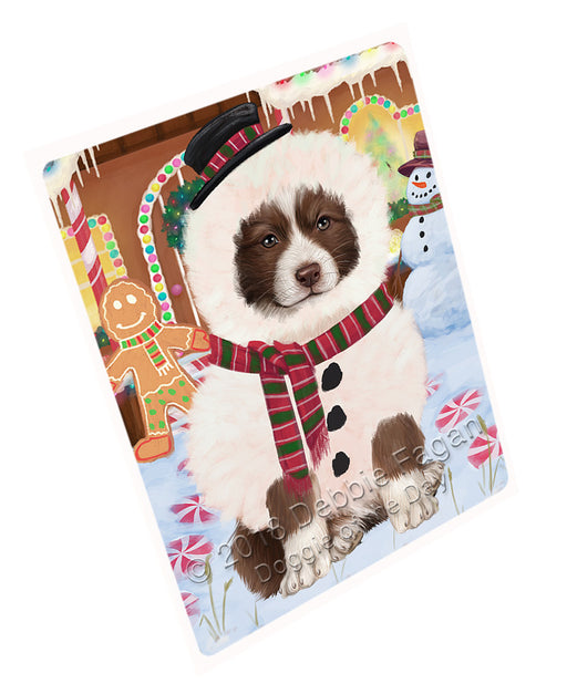 Christmas Gingerbread House Candyfest Border Collie Dog Large Refrigerator / Dishwasher Magnet RMAG99486