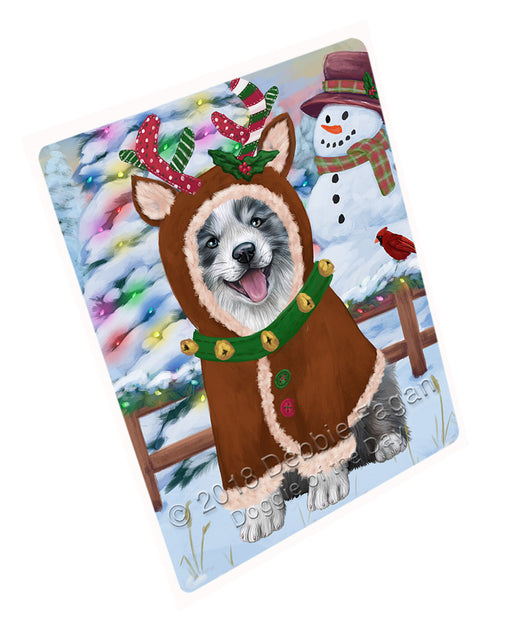 Christmas Gingerbread House Candyfest Border Collie Dog Large Refrigerator / Dishwasher Magnet RMAG99492