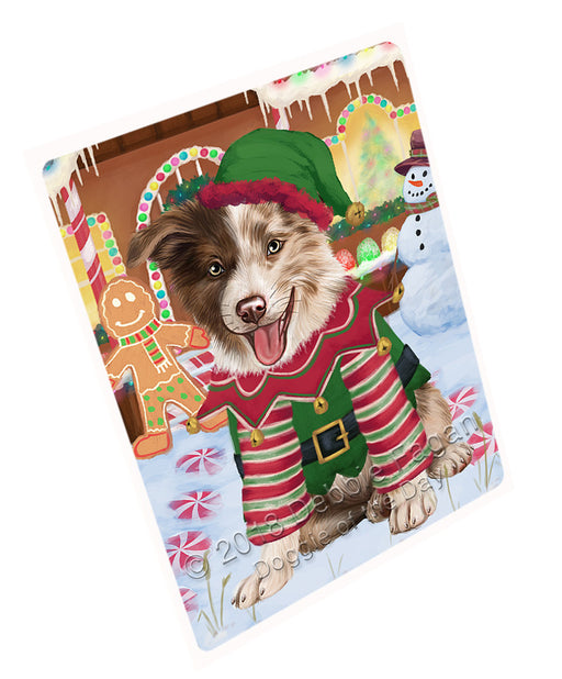 Christmas Gingerbread House Candyfest Border Collie Dog Large Refrigerator / Dishwasher Magnet RMAG99498