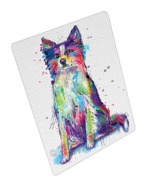 Watercolor Border Collie Dog Refrigerator / Dishwasher Magnet RMAG104868