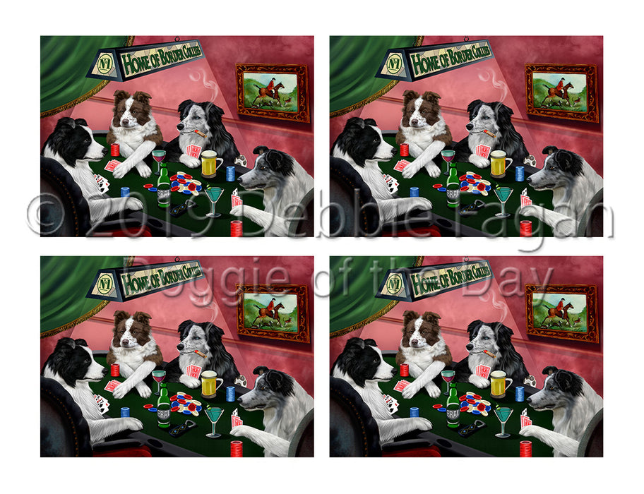 Home of  Border Collie Dogs Playing Poker Placemat