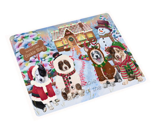 Holiday Gingerbread Cookie Shop Border Collies Dog Large Refrigerator / Dishwasher Magnet RMAG100560