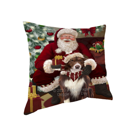 Santa's Christmas Surprise Border Collie Dog Pillow PIL87108