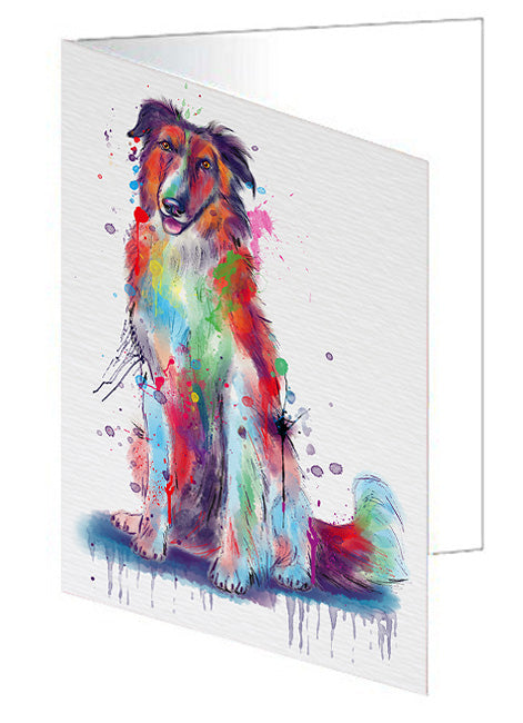 Watercolor Borzoi Dog Greeting Card GCD79940