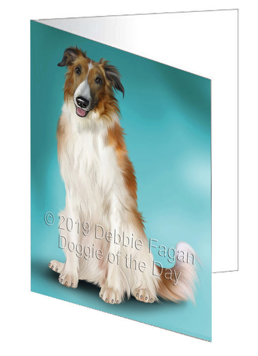 Borzoi Dog Greeting Card GCD77609