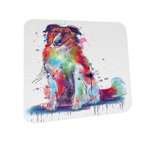 Watercolor Borzoi Dog Coasters Set of 4 CST57500
