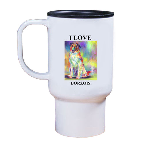 Paradise Wave Borzoi Dog Travel Mug TRAV52735