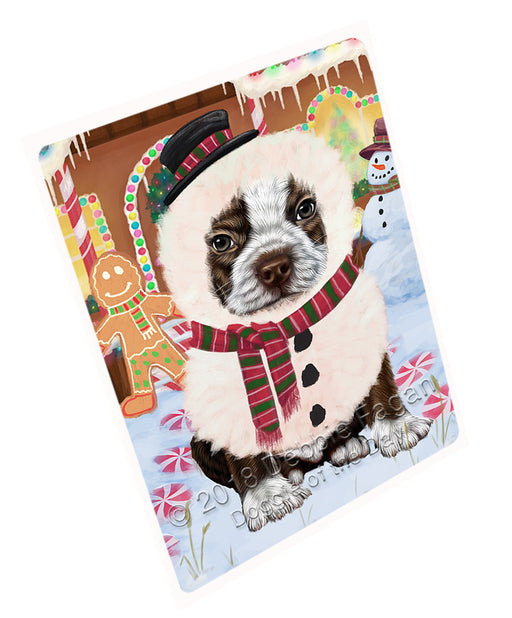 Christmas Gingerbread House Candyfest Boston Terrier Dog Large Refrigerator / Dishwasher Magnet RMAG99510