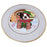 Christmas Gingerbread House Candyfest Boston Terrier Dog Porcelain Plate PLT54558
