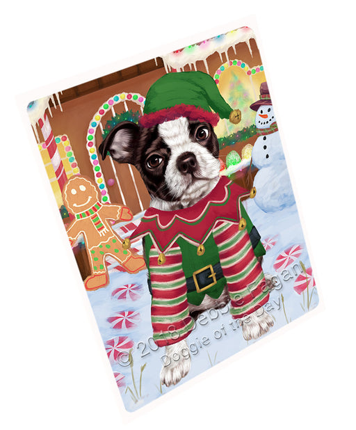 Christmas Gingerbread House Candyfest Boston Terrier Dog Large Refrigerator / Dishwasher Magnet RMAG99522