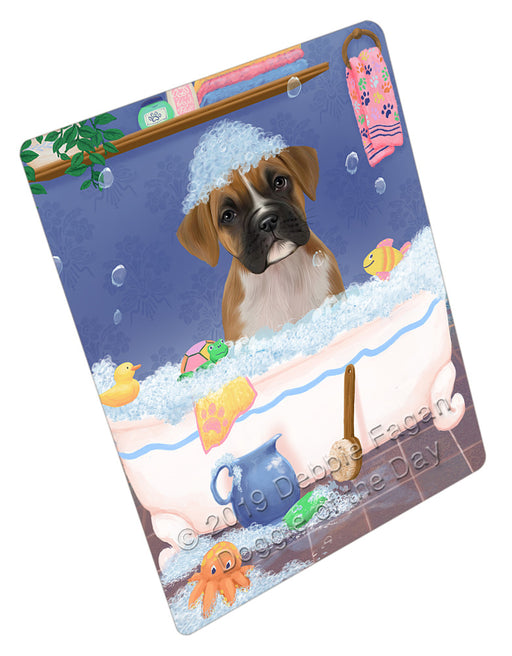 Rub A Dub Dog In A Tub Boxer Dog Refrigerator / Dishwasher Magnet RMAG108900