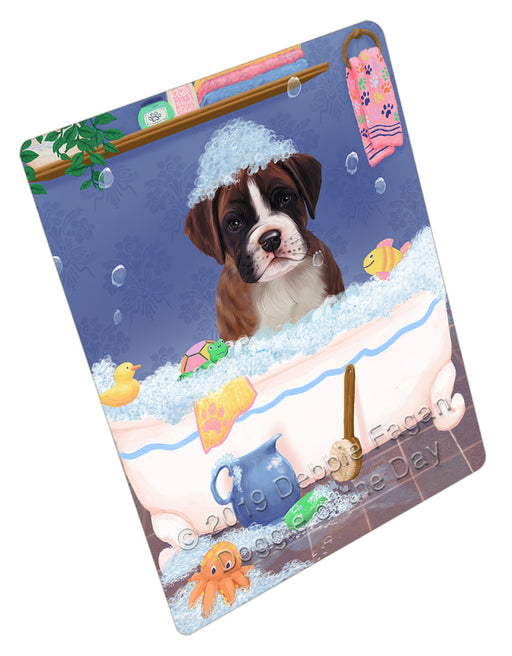 Rub A Dub Dog In A Tub Boxer Dog Refrigerator / Dishwasher Magnet RMAG108906