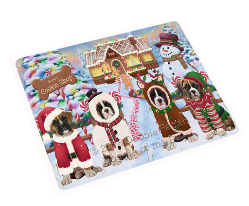 Holiday Gingerbread Cookie Shop Boxers Dog Large Refrigerator / Dishwasher Magnet RMAG100572