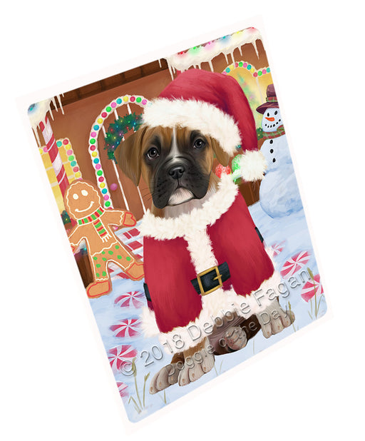 Christmas Gingerbread House Candyfest Boxer Dog Large Refrigerator / Dishwasher Magnet RMAG99528
