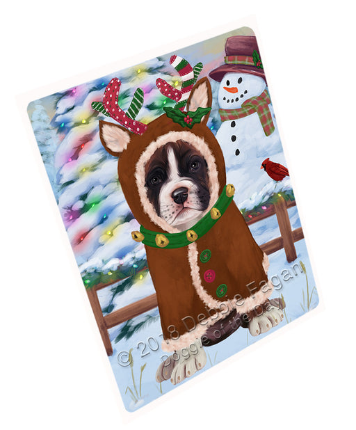 Christmas Gingerbread House Candyfest Boxer Dog Large Refrigerator / Dishwasher Magnet RMAG99540