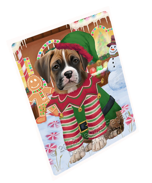 Christmas Gingerbread House Candyfest Boxer Dog Large Refrigerator / Dishwasher Magnet RMAG99546