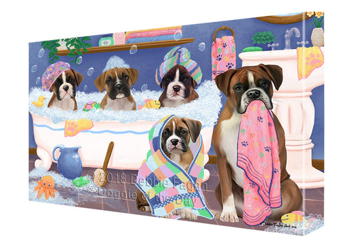 Rub A Dub Dogs In A Tub Boxers Dog Canvas Print Wall Art Décor CVS133172