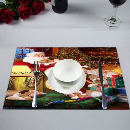 Santa Sleeping with Bracco Italiano Dogs Placemat