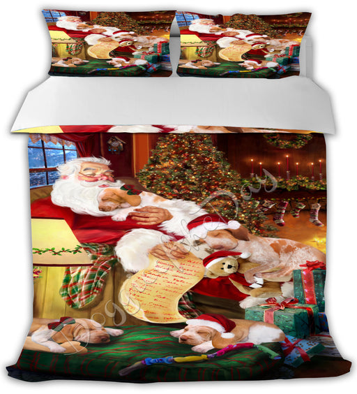 Santa Sleeping with Bracco Italiano Dogs Bed Comforter CMFTR49505