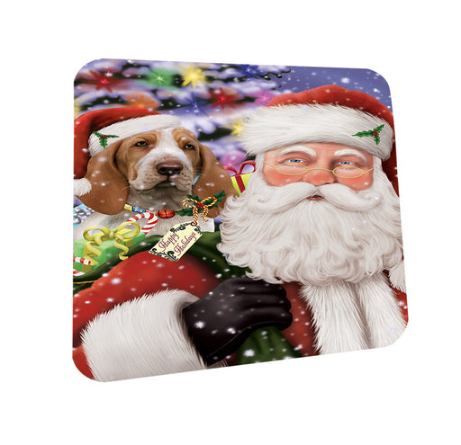 Santa Carrying Bracco Italiano Dog and Christmas Presents Coasters Set of 4 CST55450